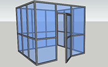 3d glass walls